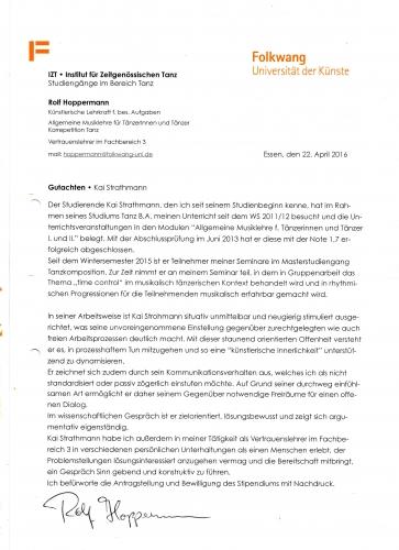 Rolf Hoppermann Gutachten